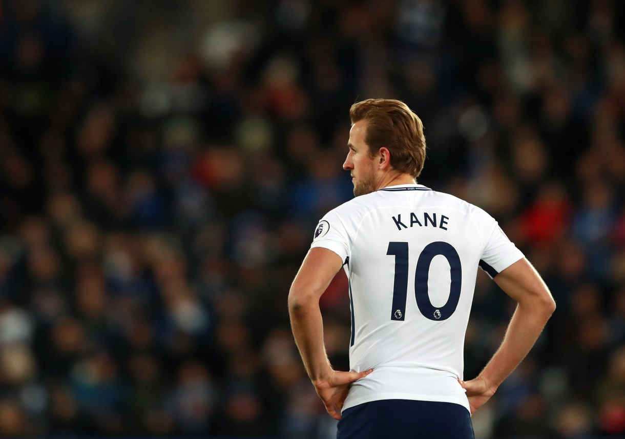 Tottenham Hotspur's Harry Kane during the Premier League match at the King Power Stadium, Leicester