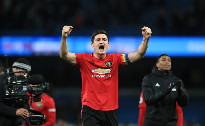 Harry Maguire is hoping to beat Manchester City for a third time in 2020
