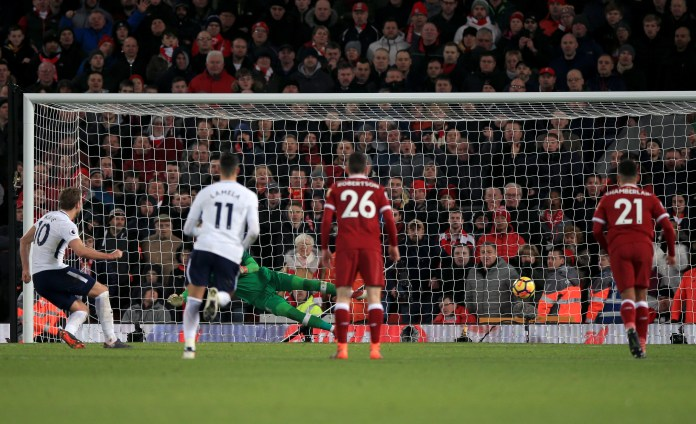 Merseyside was again home to Harry Kane's next milestone - his 100th Premier League. He showed nerves of steel to snatch Spurs a 2-2 draw at Liverpool in February, 2018 with a stoppage-time effort after he had missed a penalty earlier in the contest