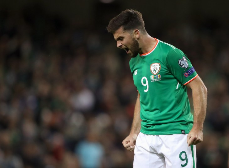 Shane Long will be hoping to find the target against Denmark