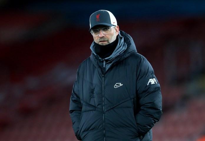 Liverpool boss Jurgen Klopp has seen his defence hit by injuries (Adam Davy/PA).