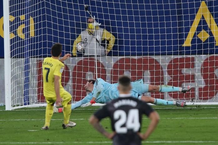 A late penalty from Gerard Moreno helped maintain Villarreal's unbeaten home record (Alberto Saiz/AP)