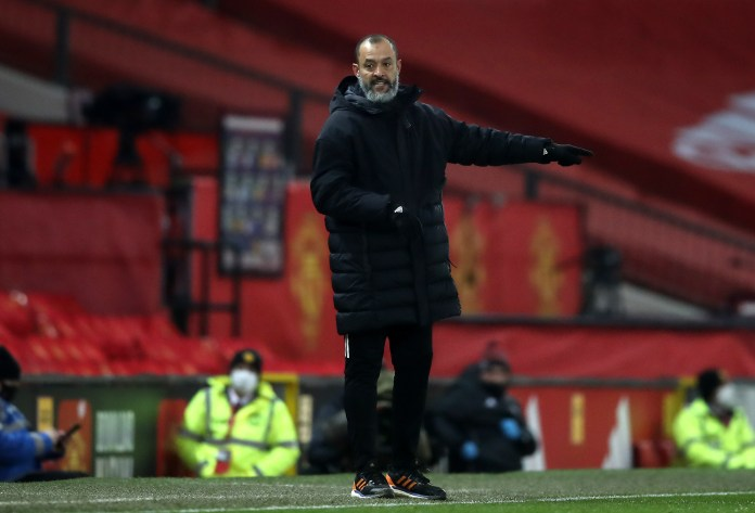 Nuno Espirito Santo felt his young players performed well at Old Trafford