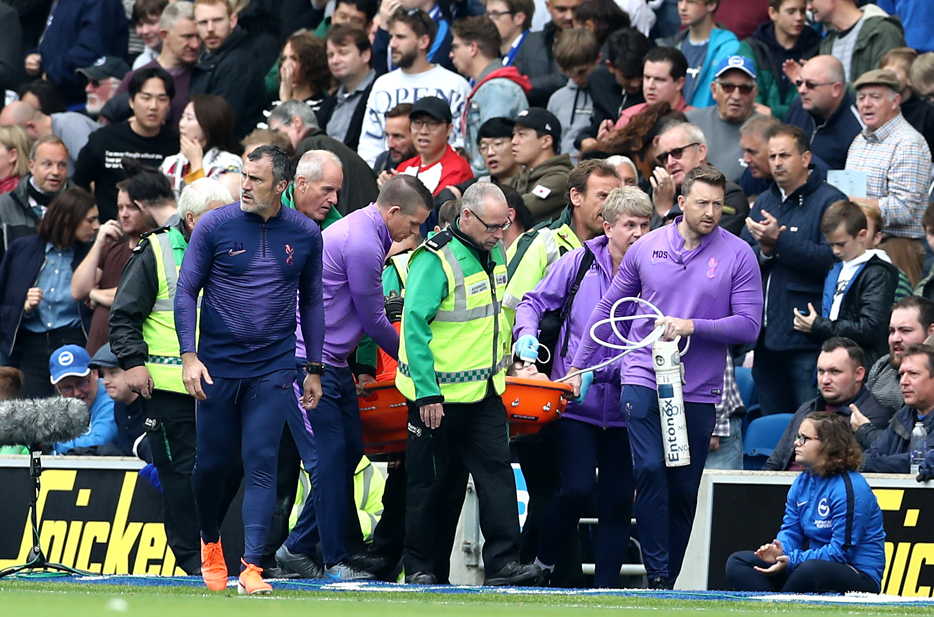 Hugo Lloris was injured during the defeat to Brighton