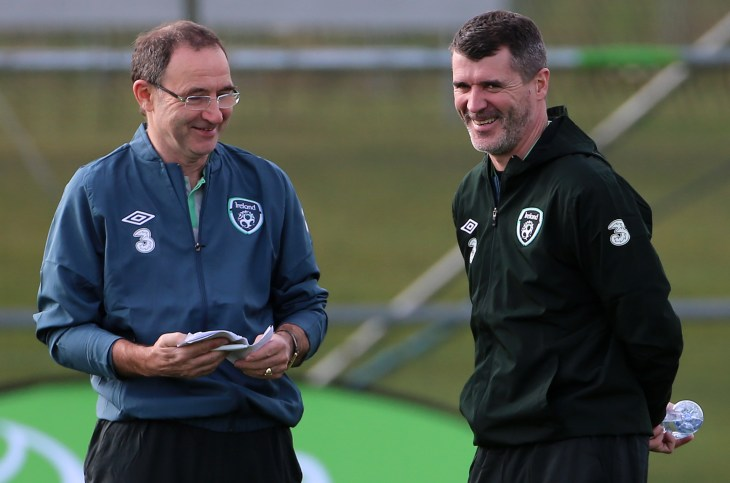 Roy Keane, right, is now working alongside Martin O'Neill at Nottingham Forest