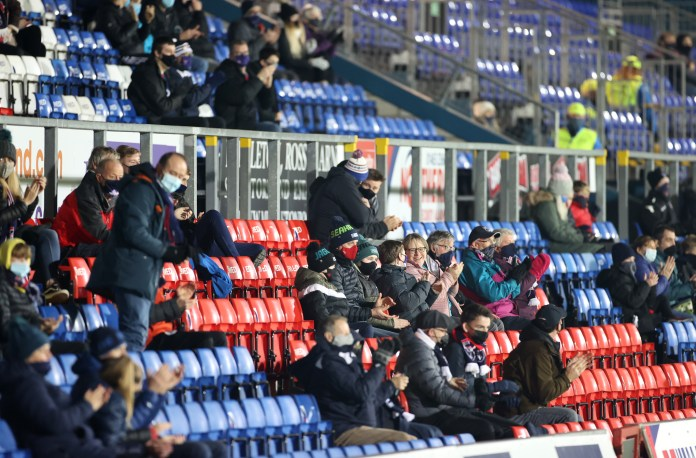 A small number of County fans were allowed in to see their team draw with Livingston