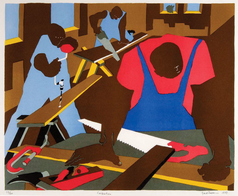 Family Living Harlem Jacob Lawrence