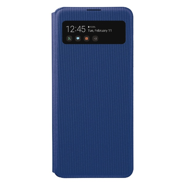 【サムスン純正】GalaxyA41 S VIEW WALLET COVER ブルー EF-EA414PLEGJP SAMSUNG ...