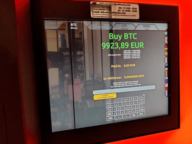 Mua BTC bằng máy ATM Bitcoin