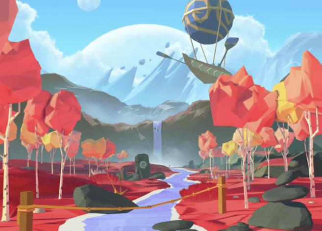 khung cảnh CGI của decentraland