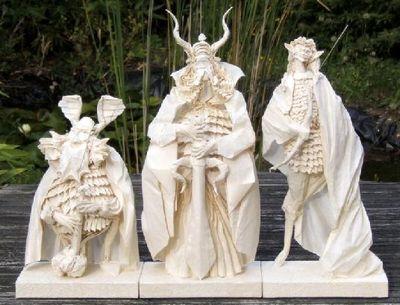 折紙で作られたロード・オブ・ザ・リングのキャラ