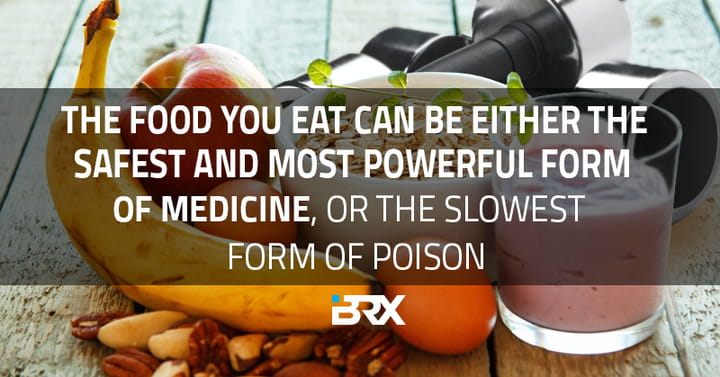 crossfit nutrition quote card