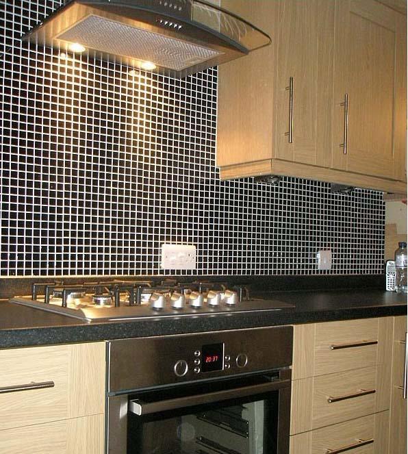 wall tile for kitchen small tv porcelain backsplash black glazed ceramic mosaic flooring hb 009 stickers s2