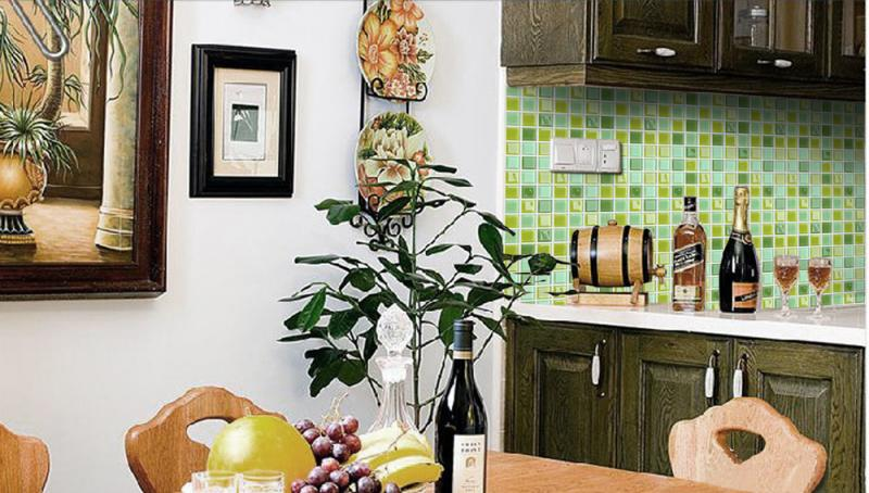 mosaic kitchen tile log home islands glass tiles backsplash bathroom wall sticker jkx03 stickers of s1
