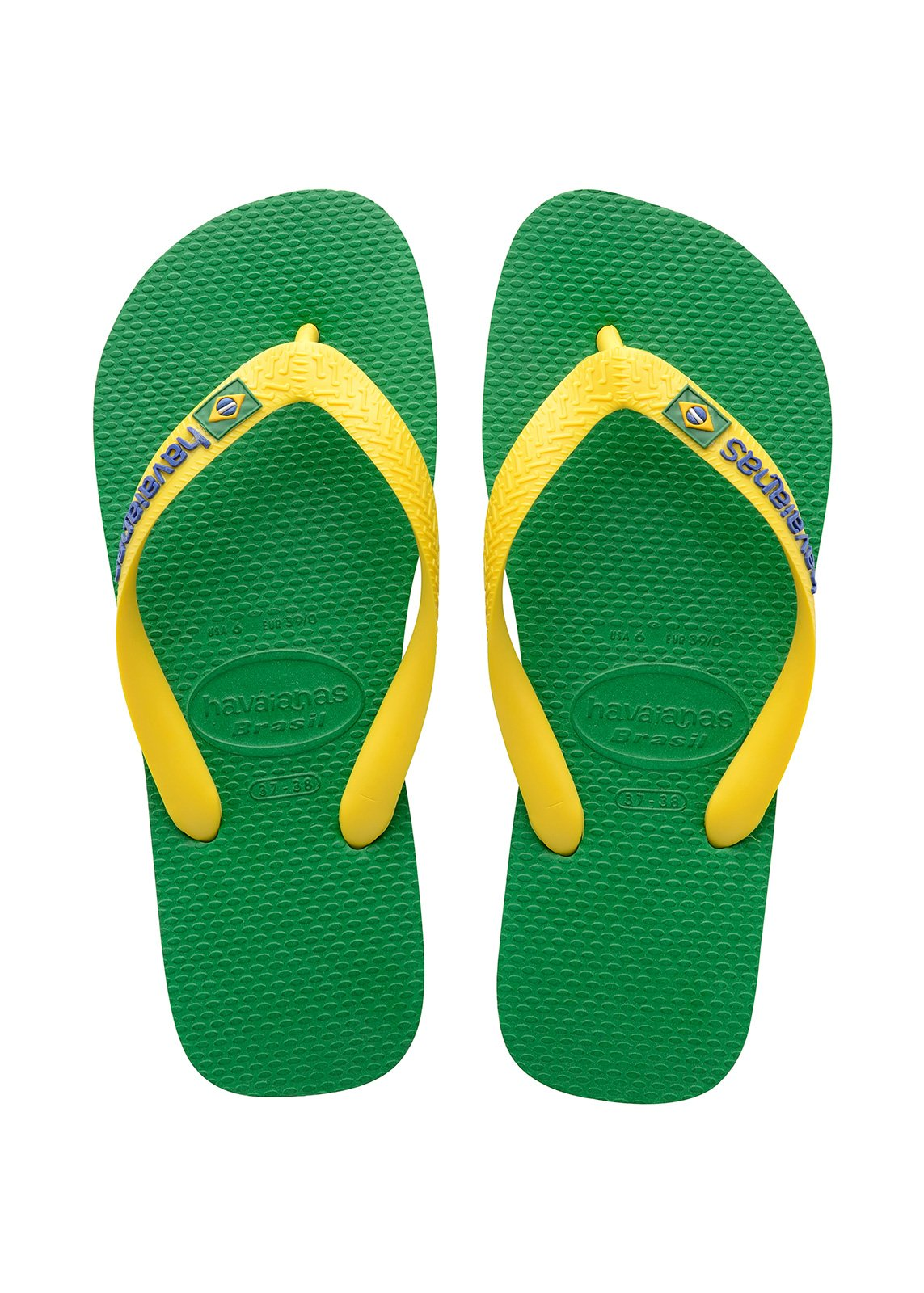 rio brands beach chairs uk chair covers and sashes rental flip flops havaianas brasil logo green