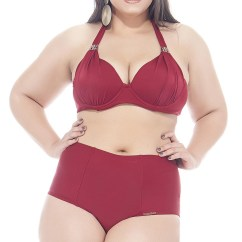 Beach Chair Sale Bedroom Feng Shui Dark Red, High Waisted Bikini In Large Sizes - Pimentinha