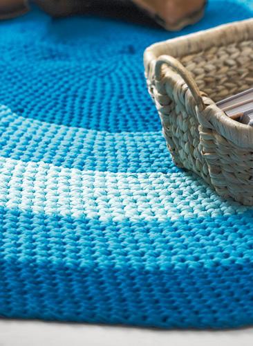 Hkelmuster Teppich hkeln Anleitung zum Nachmachen