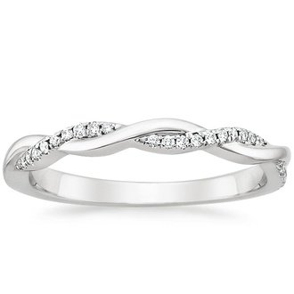 petite twisted vine diamond ring