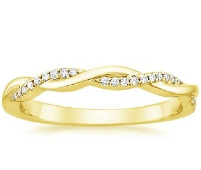 Petite Twisted Vine Diamond Ring   Ct Tw In K