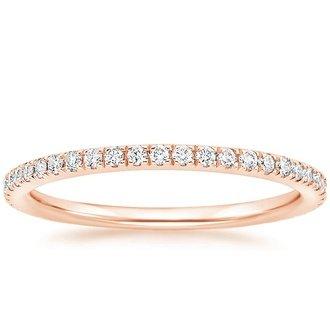 luxe ballad diamond ring 1 4 ct tw in 14k rose