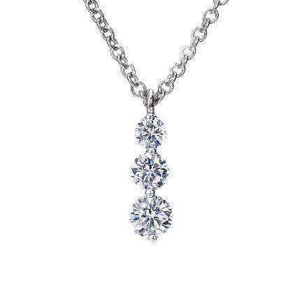 Three Diamond Drop Pendant (1/2 ct. tw.) in Platinum