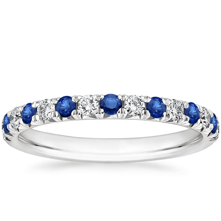 Pave Sapphire And Diamond Ring Sienna Brilliant Earth
