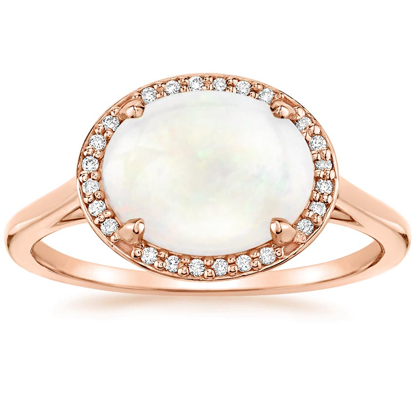 Opal Cherish Ring in 14K Rose Gold