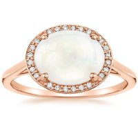 Opal Cherish Ring in 14K Rose Gold