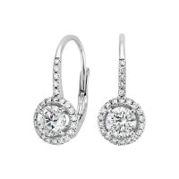 Luxe Halo Enchant Drop Earrings (1 1/4 ct. tw.) in 18K ...