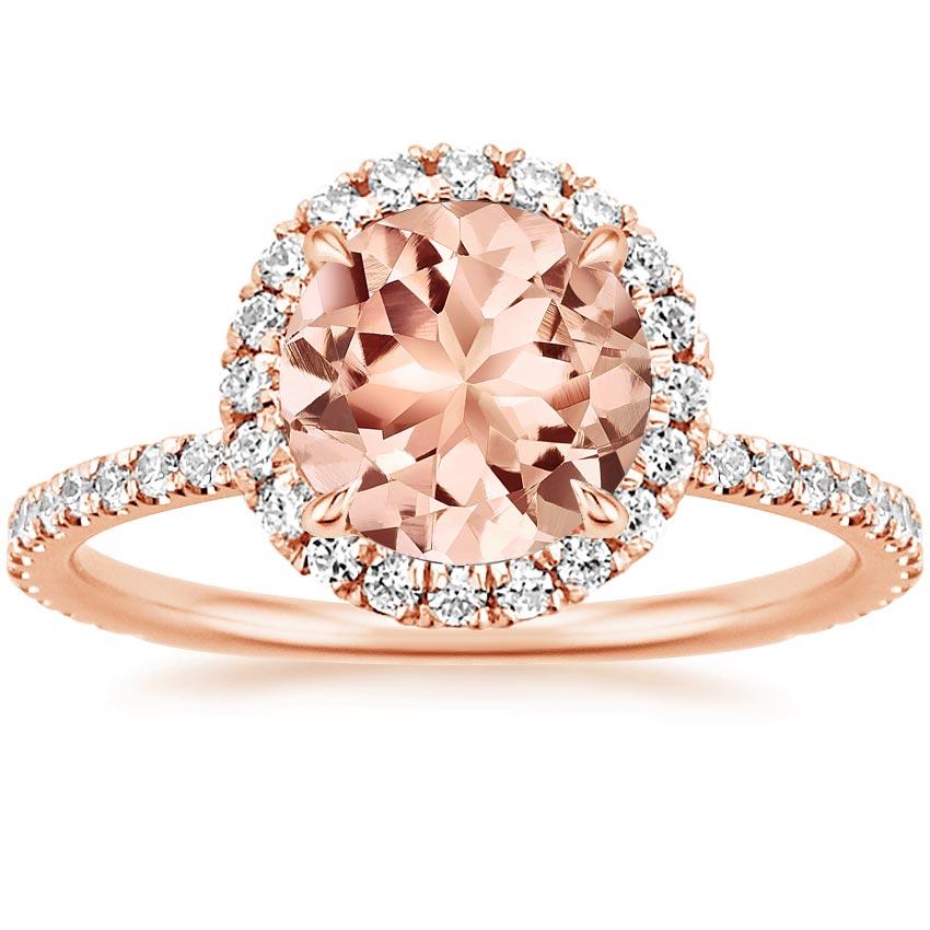 Morganite Waverly Ring in 14K Rose Gold