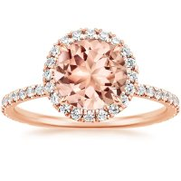 Morganite Waverly Ring in 14K Rose Gold | Brilliant Earth