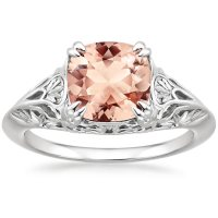 Morganite Leonora Ring in 18K White Gold | Brilliant Earth