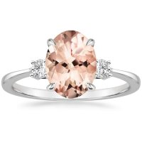 Morganite Selene Ring in 18K White Gold | Brilliant Earth