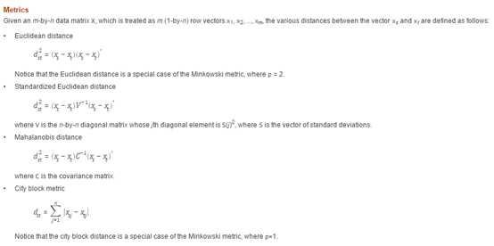 matlab的pdist函數詳解 - IT閱讀