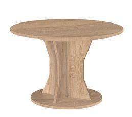 table ronde palace imitation chene sonoma