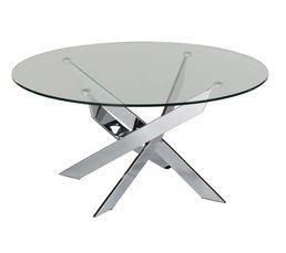 Pivo Table Basse Fixe Verre