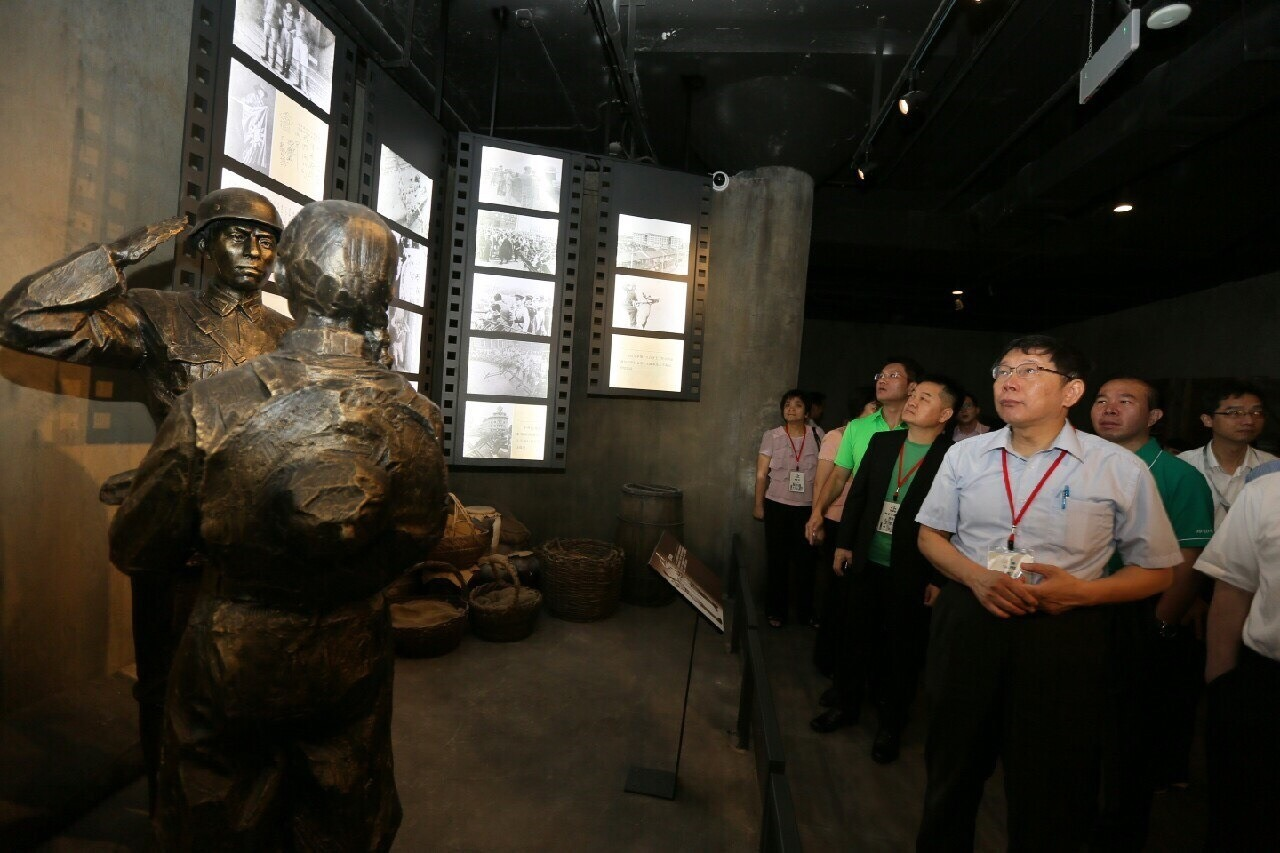 訪四行倉庫 談共產黨「領導」抗戰 柯文哲:抗戰是由蔣介石指揮-風傳媒
