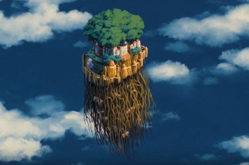 荷蘭藝術家把宮崎駿「天空之城」電影的奇幻場景,變成一座座真實版的小島-風傳媒