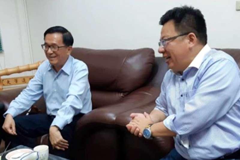 李俊俋立委初選落馬 陳水扁居中協調照片曝光-風傳媒