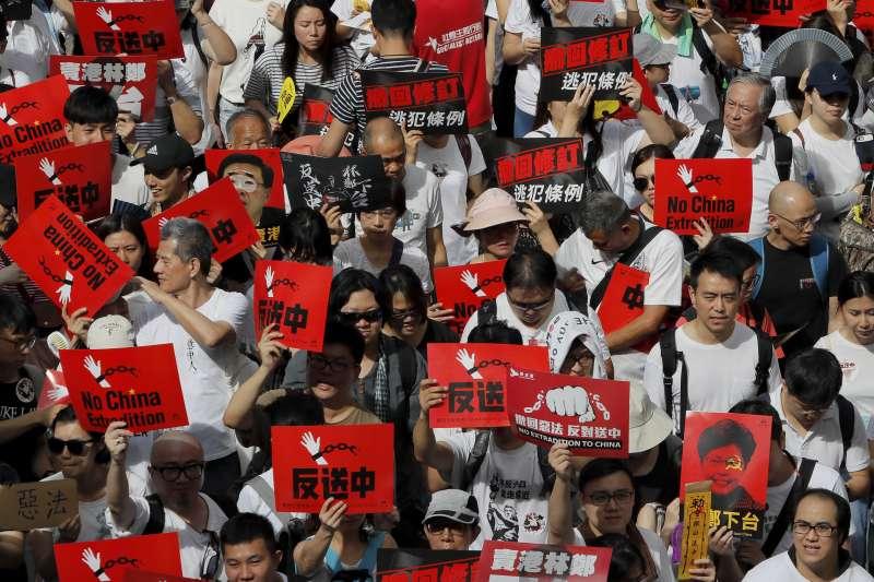 反修訂《逃犯條例》 香港爆16年來最大示威 前端抵終點後端尚未出發-風傳媒