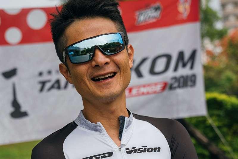 经过车祸11次手术后,范永奕再度参加KOM。 (中华民国自行车骑士协会提供)