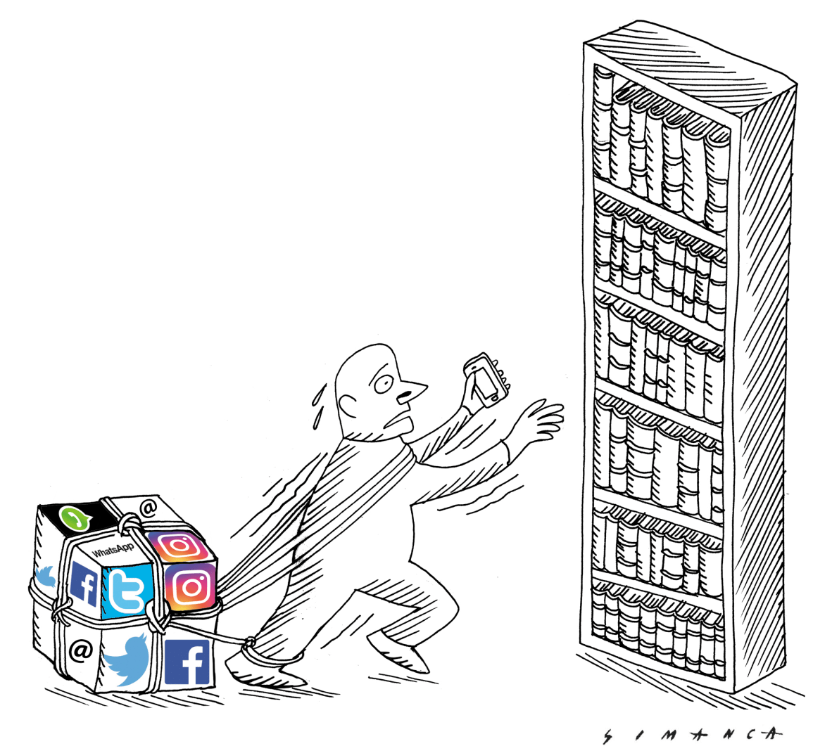 Social Network Smartphone and Books