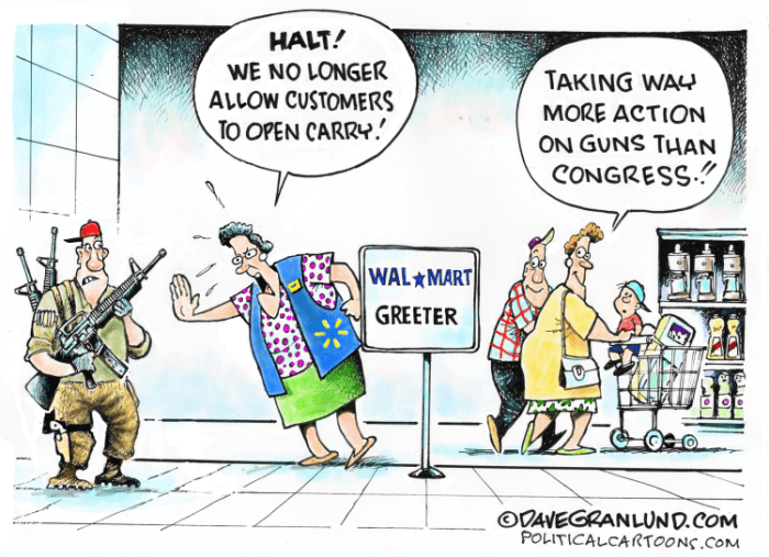 Editorial Cartoon: Walmart no open carry
