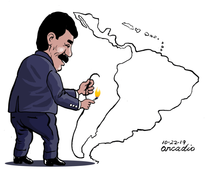 Editorial Cartoon: Maduro burns Latin America