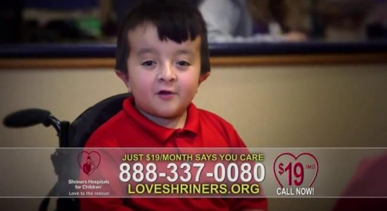 Bring Medical Miracles to Children - Image Copyright LoveShriners.Org - ISpot.Tv