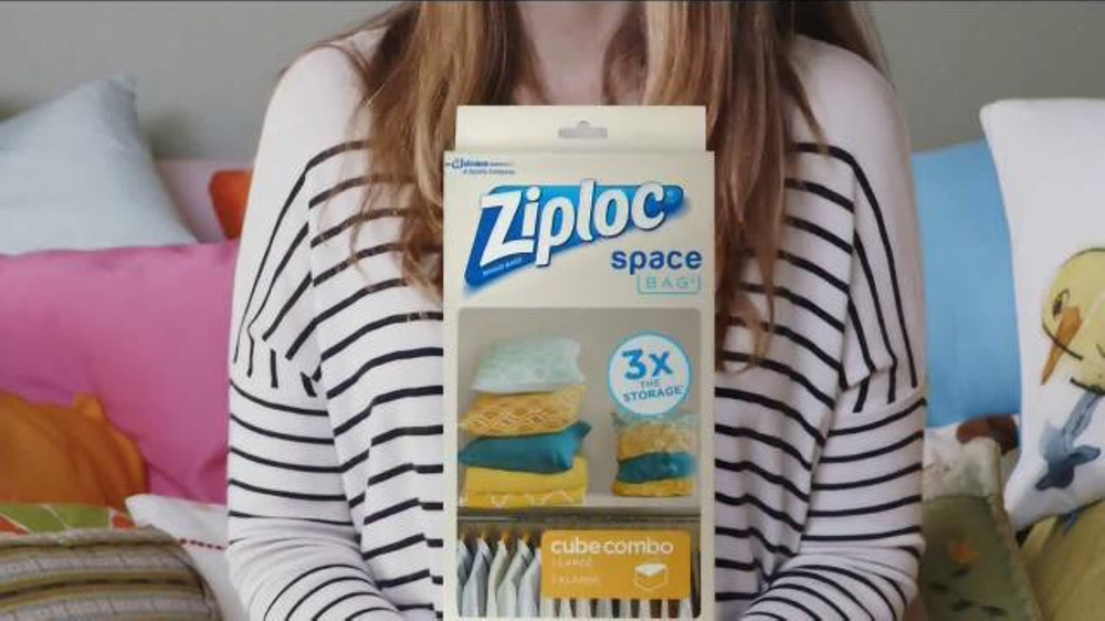 kitchen garbage can storage country furniture ziploc space bag tv commercial, 'i really like pillows ...