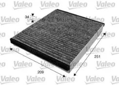 Filtr kabinowy Filtr kabiny (715628), VALEO, VOLVO (V50