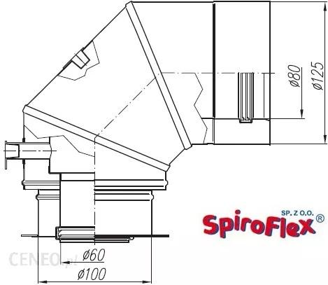 System kominkowy Buderus Spiroflex Adapter Turbo Biały Bdk