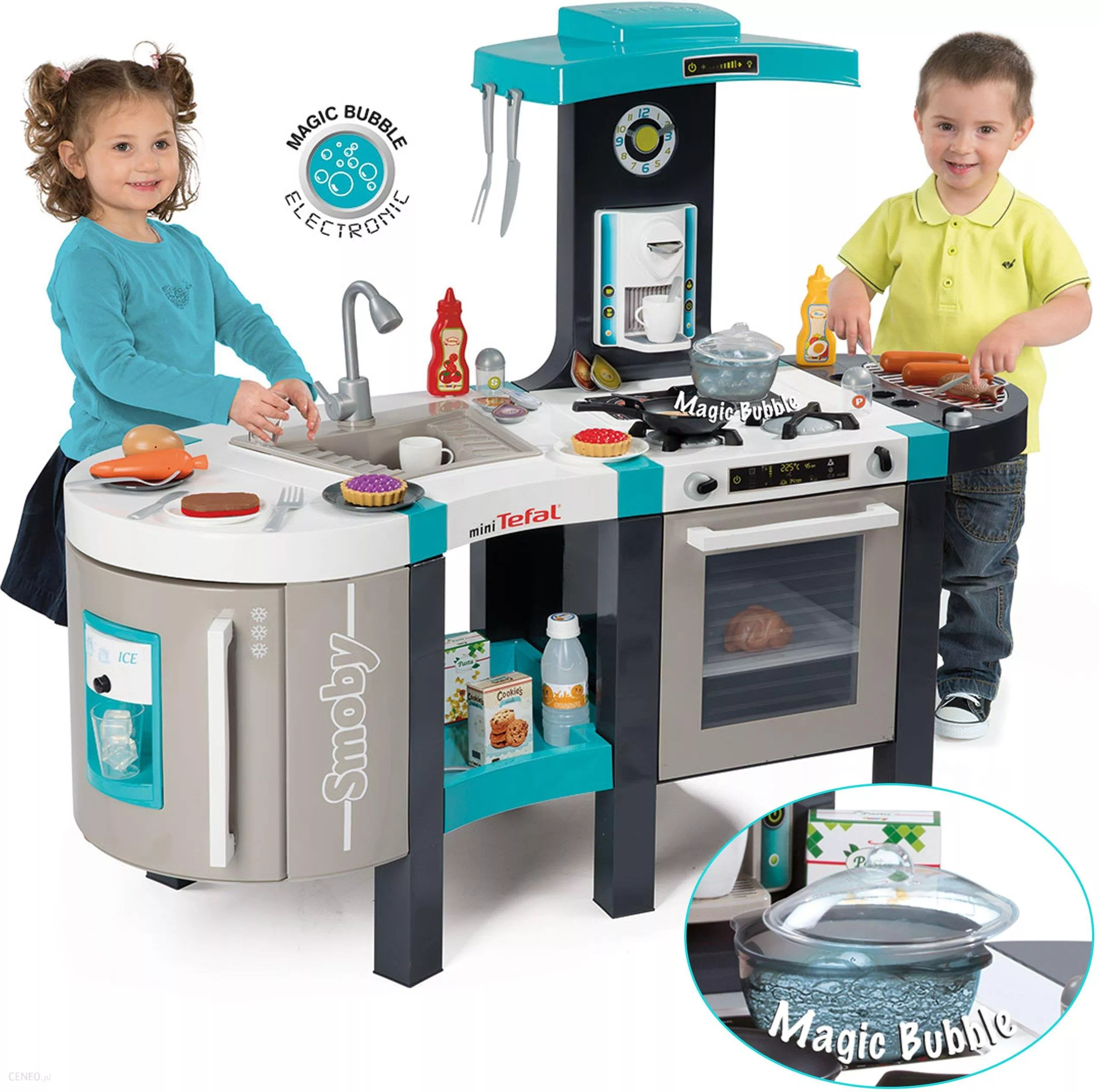 Cucina Smoby Xl Toys Center Smoby Duża Kuchnia French Touch Bubble 46 El