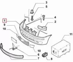 Zderzak do kupienia Zderzak Przedni Peugeot 406 (8_), (SDN